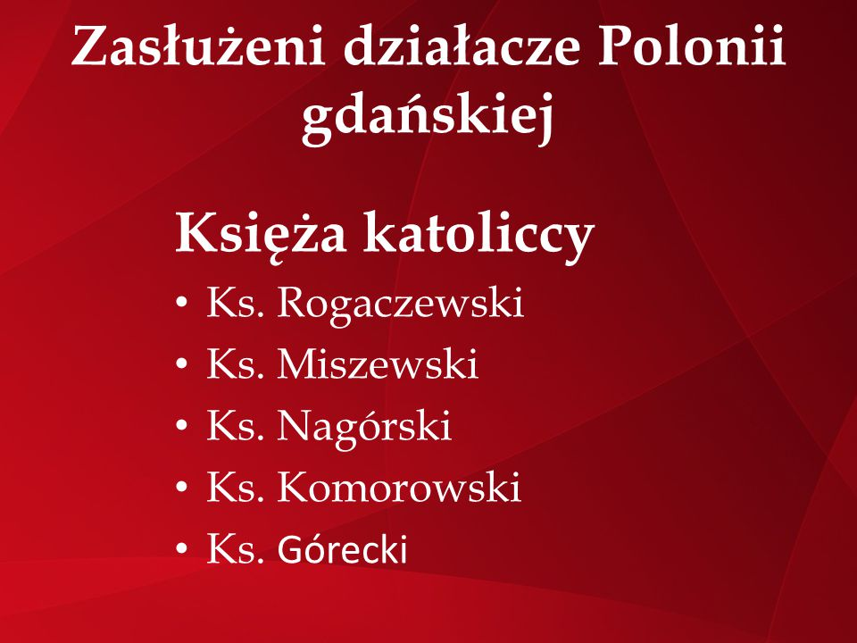 Zasłużeni działacze Polonii gdańskiej