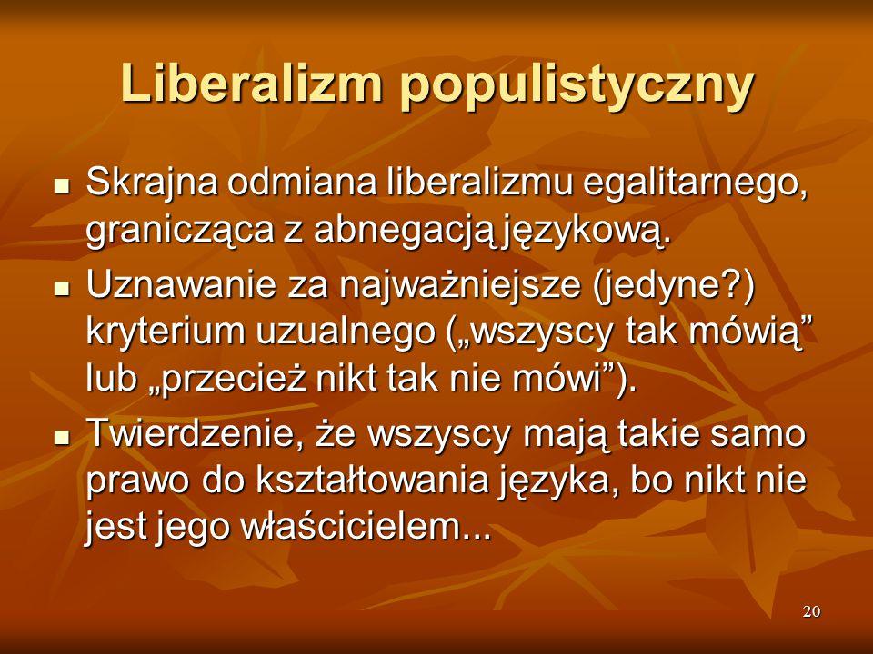 Liberalizm populistyczny