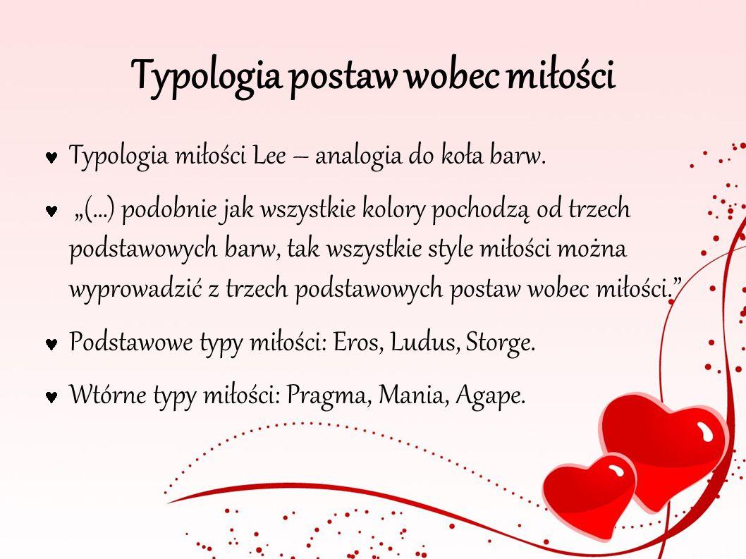 Typologia postaw wobec miłości