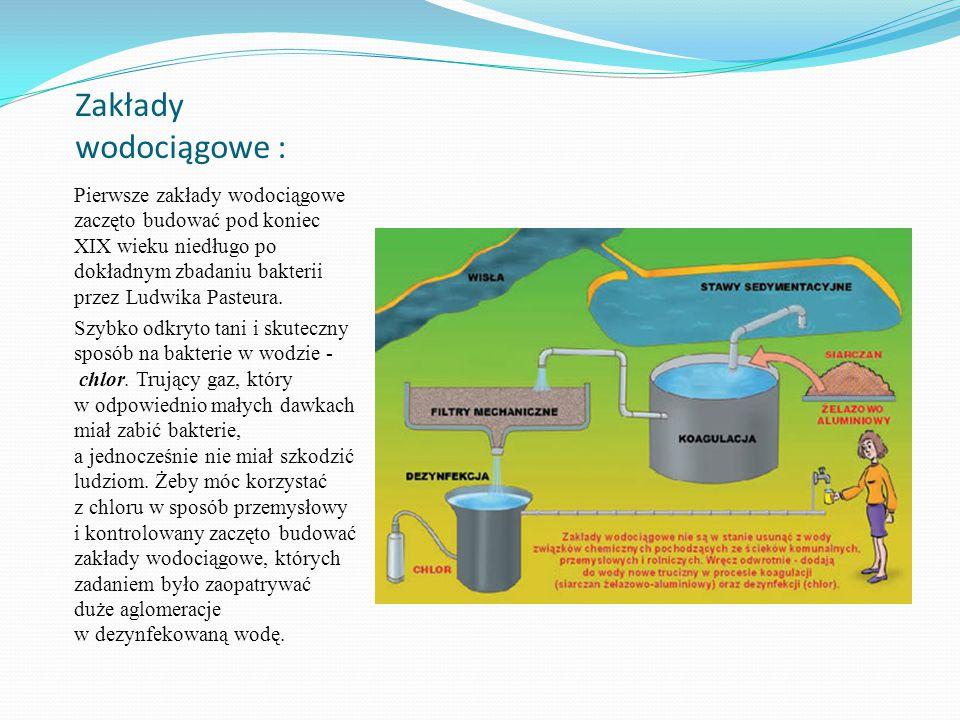 Zakłady wodociągowe :