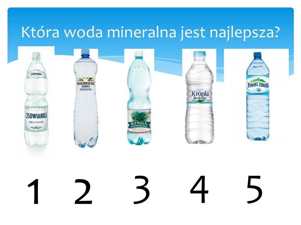 Która woda mineralna jest najlepsza