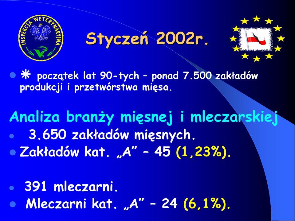Styczeń 2002r. Analiza branży mięsnej i mleczarskiej