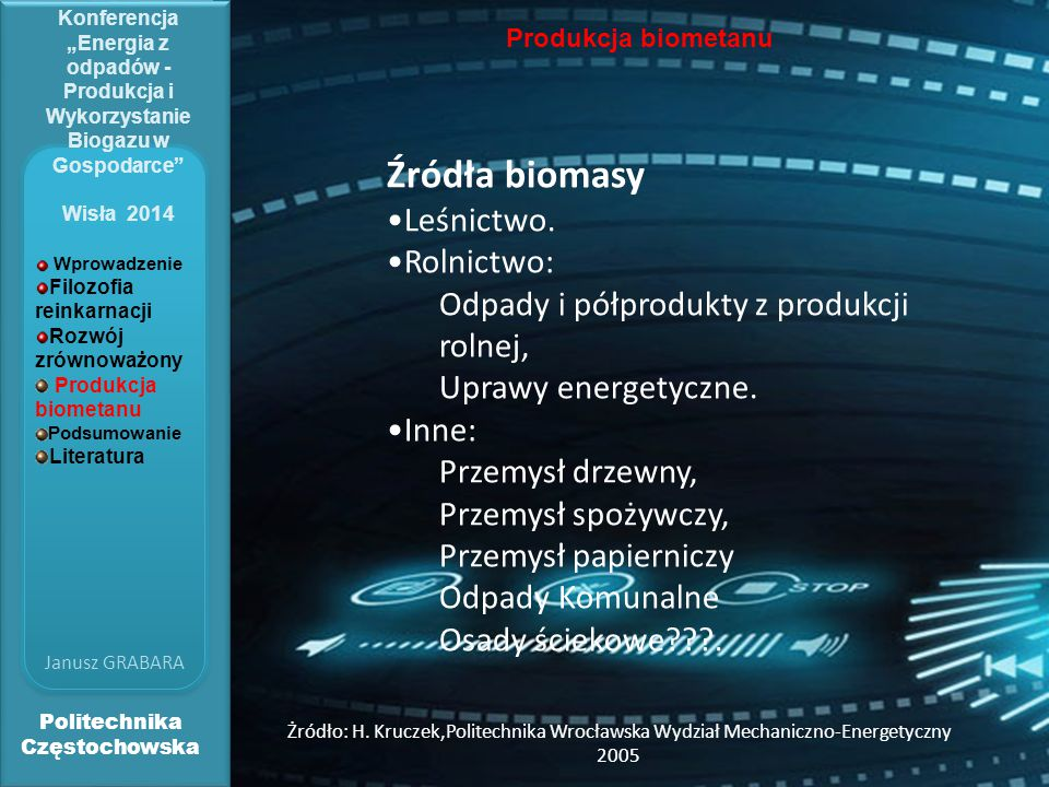 Źródła biomasy Leśnictwo. Rolnictwo:
