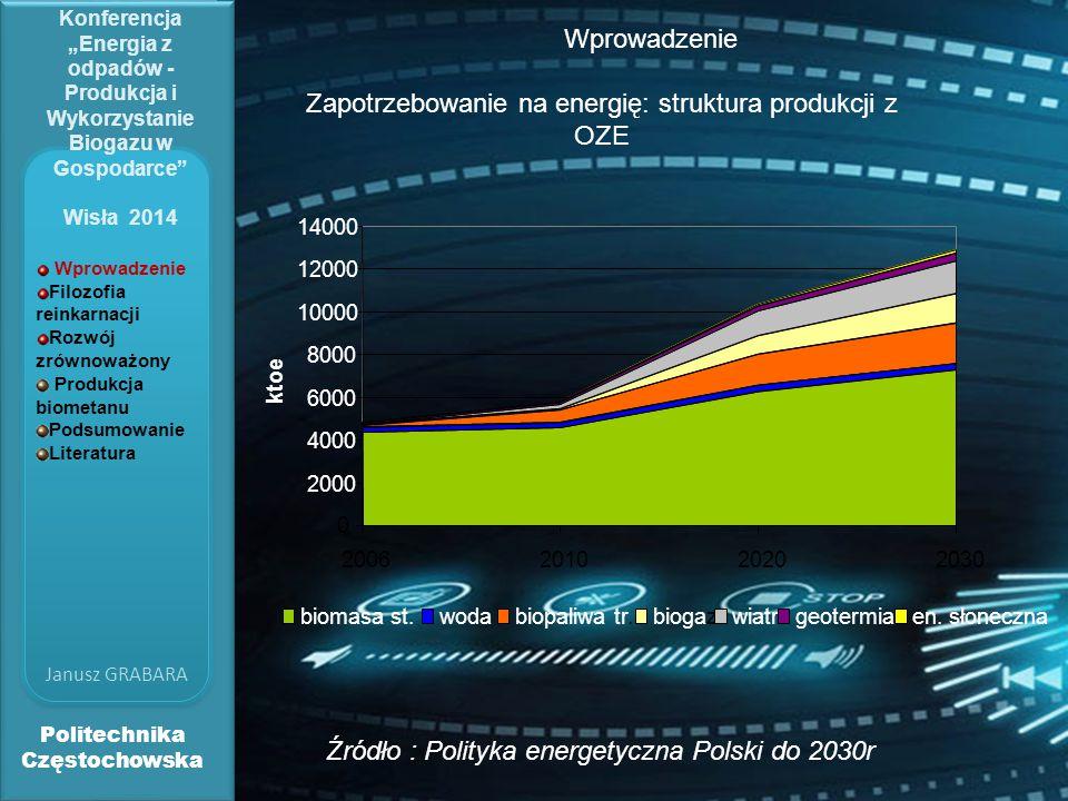 Zapotrzebowanie na energię: struktura produkcji z OZE