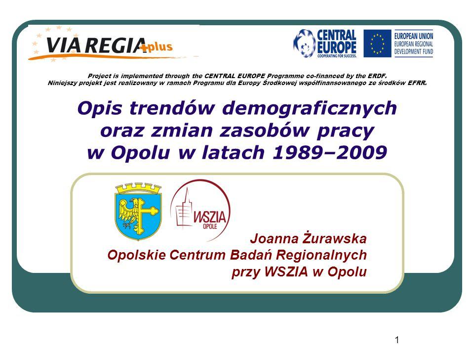 Joanna Żurawska Opolskie Centrum Badań Regionalnych przy WSZIA w Opolu