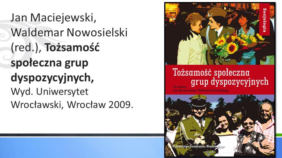 Jan Maciejewski, Waldemar Nowosielski (red