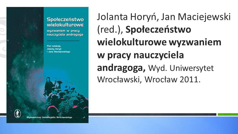Jolanta Horyń, Jan Maciejewski (red