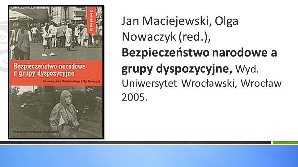 Jan Maciejewski, Olga Nowaczyk (red
