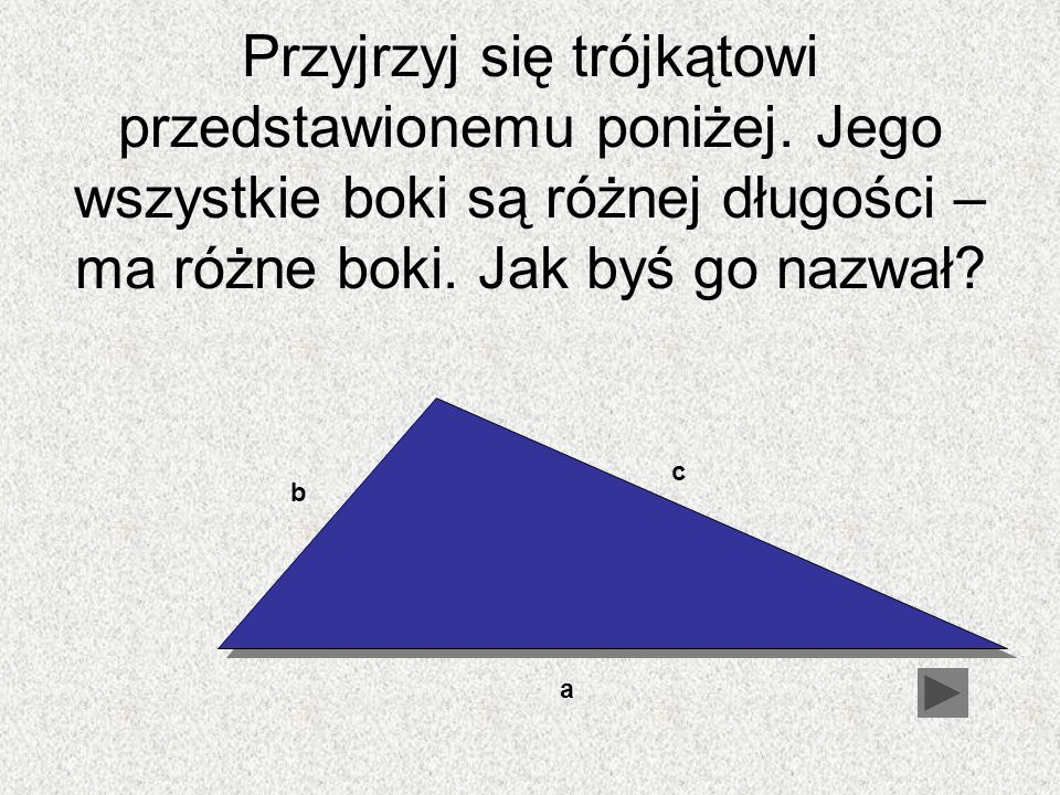 Przyjrzyj się trójkątowi przedstawionemu poniżej
