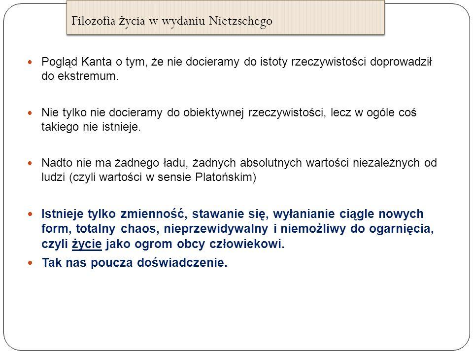 Filozofia życia w wydaniu Nietzschego