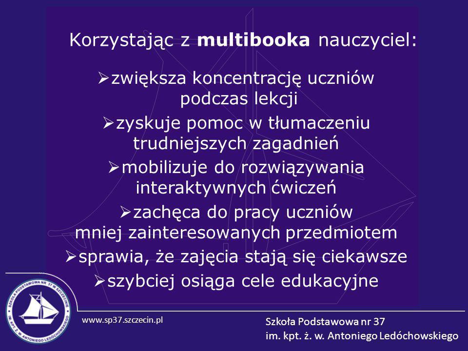 Korzystając z multibooka nauczyciel: