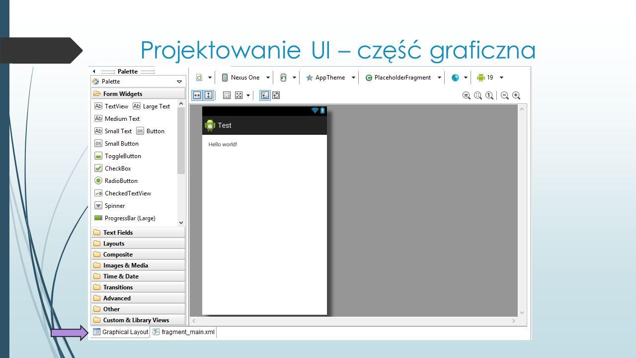 Projektowanie UI – część graficzna