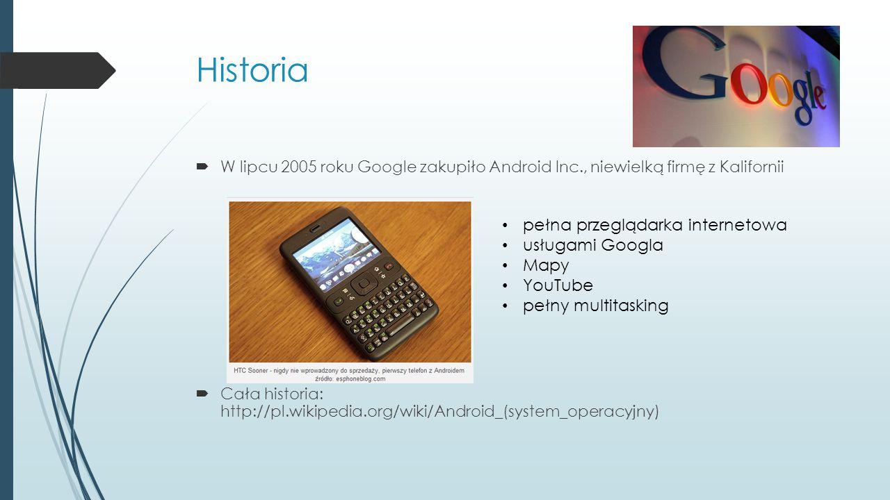 Historia pełna przeglądarka internetowa usługami Googla Mapy YouTube