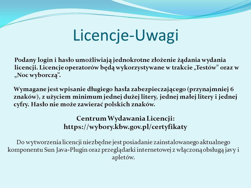 Centrum Wydawania Licencji: https://wybory.kbw.gov.pl/certyfikaty