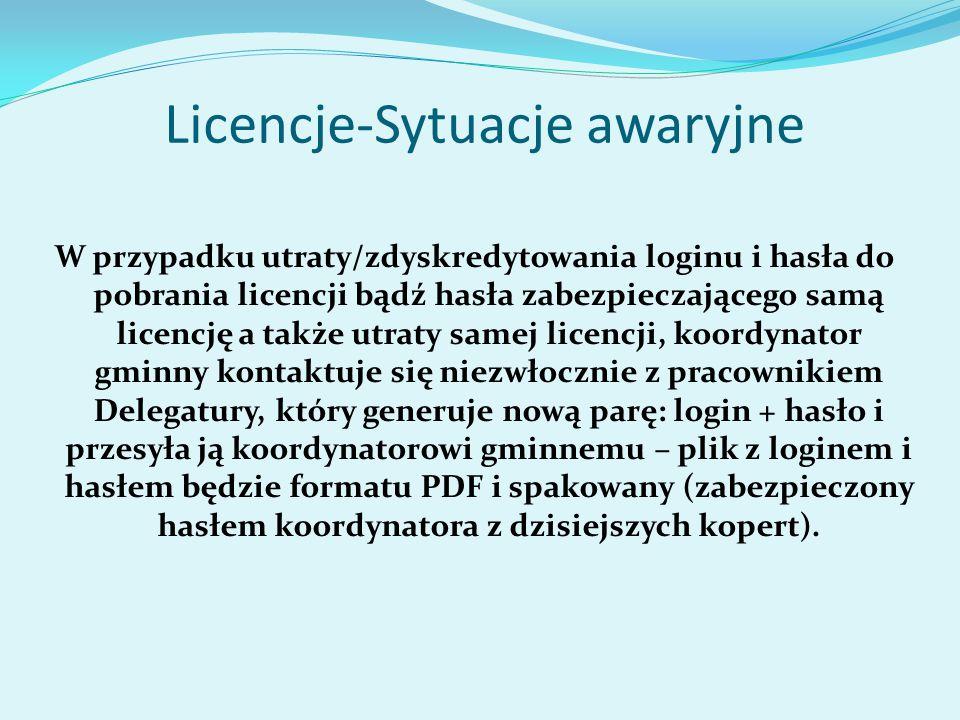 Licencje-Sytuacje awaryjne