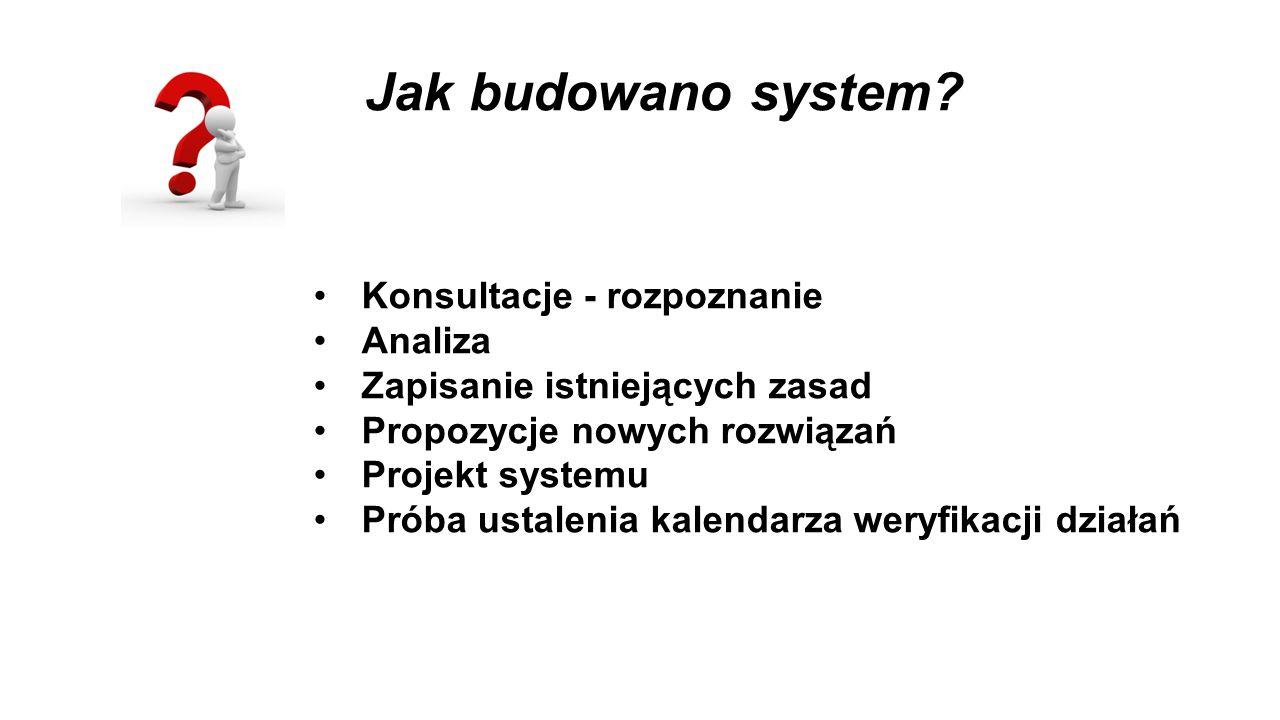 Jak budowano system Konsultacje - rozpoznanie Analiza