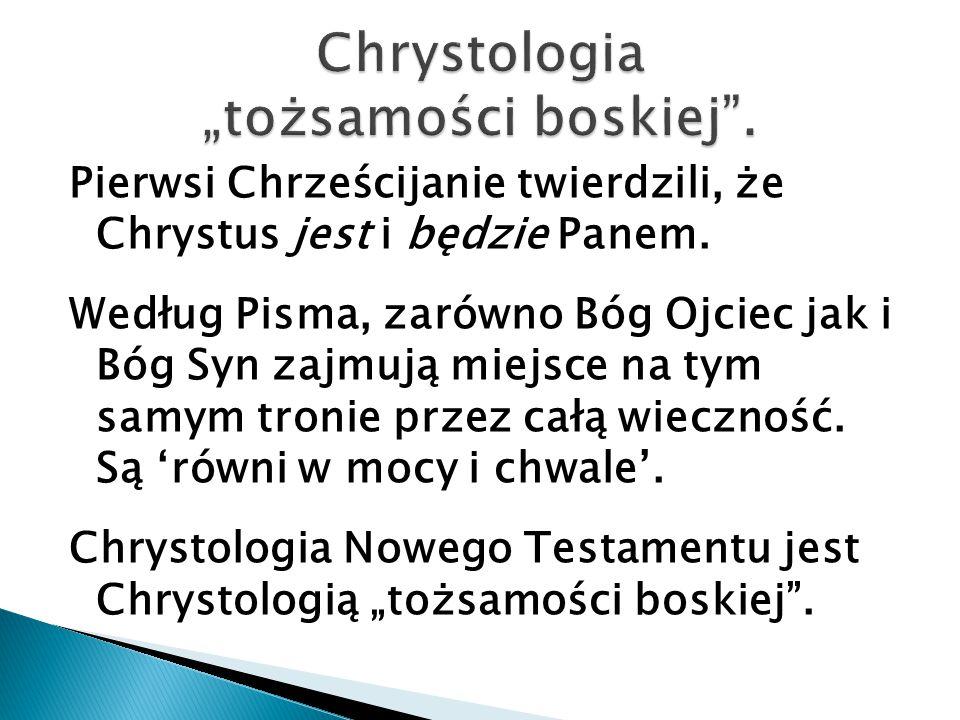 "Chrystologia ""tożsamości boskiej ."
