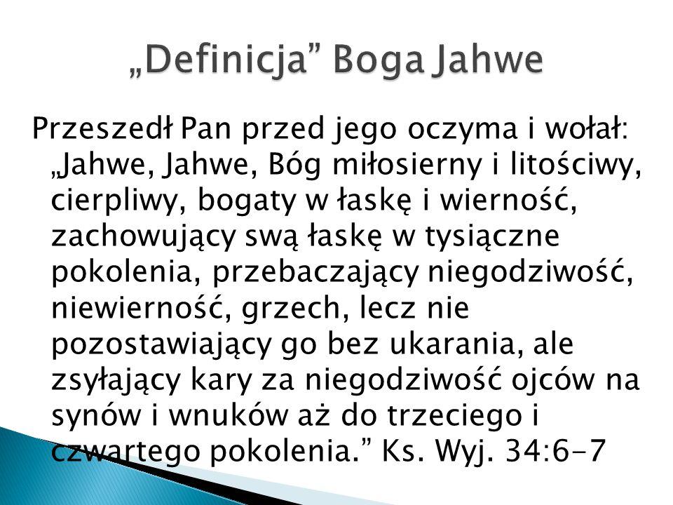 """Definicja Boga Jahwe"