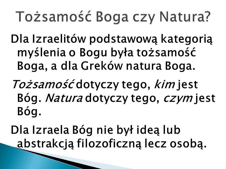 Tożsamość Boga czy Natura