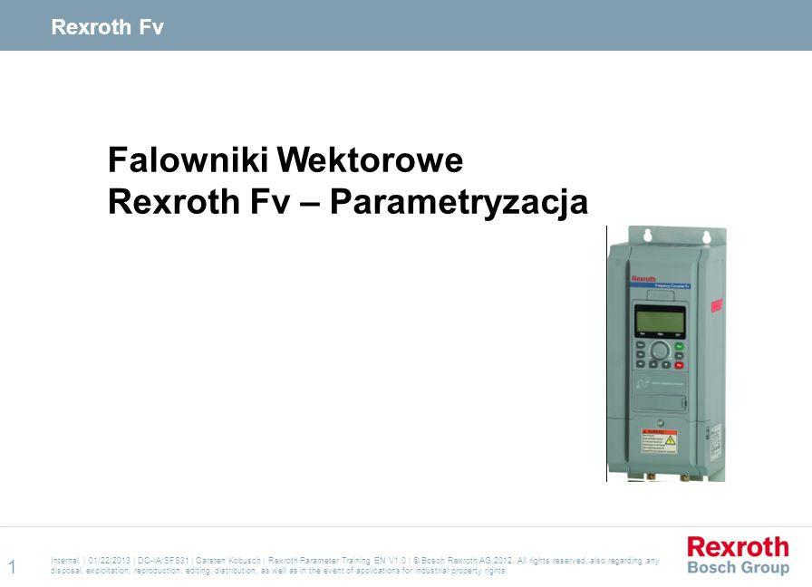 Rexroth Fv – Parametryzacja