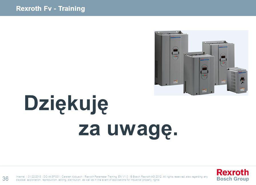 Dziękuję za uwagę. Rexroth Fv - Training 36