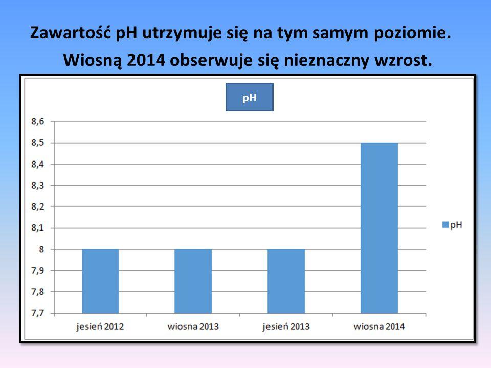 Wiosną 2014 obserwuje się nieznaczny wzrost.