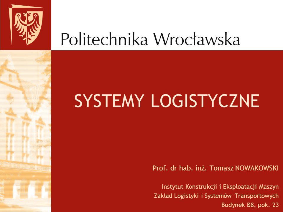 SYSTEMY LOGISTYCZNE Prof. dr hab. inż. Tomasz NOWAKOWSKI