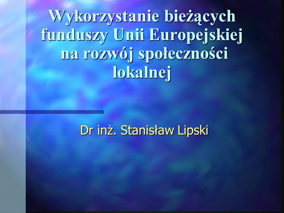 Dr inż. Stanisław Lipski