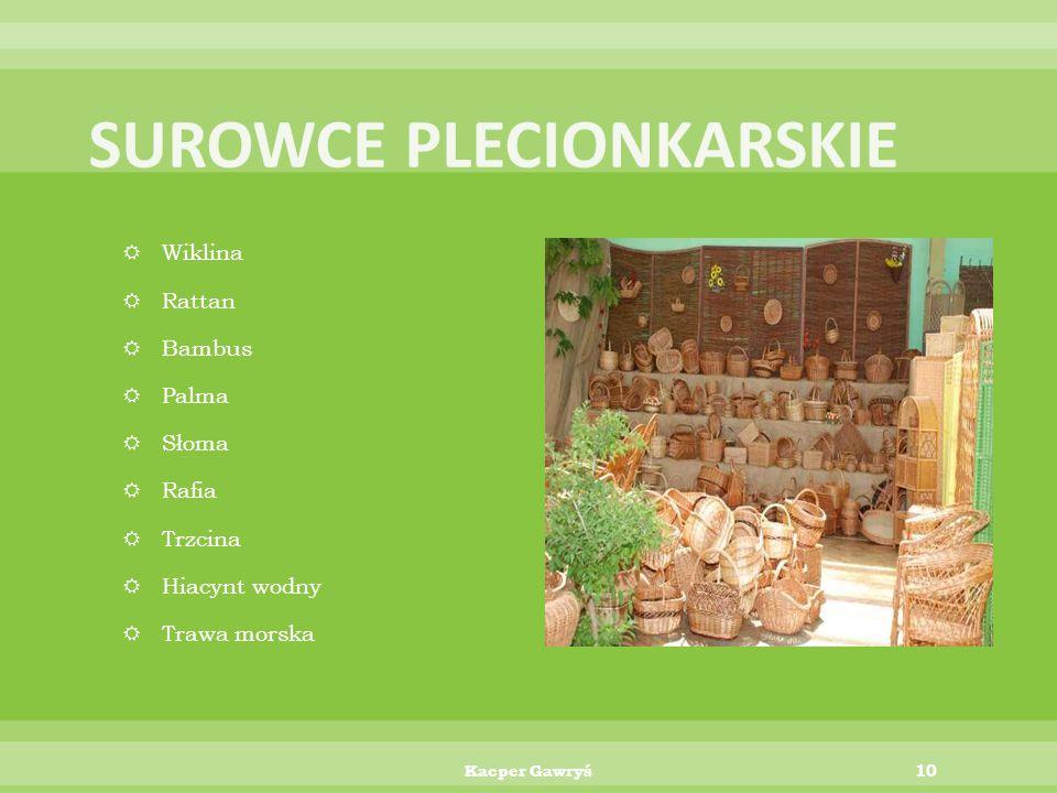 SUROWCE PLECIONKARSKIE
