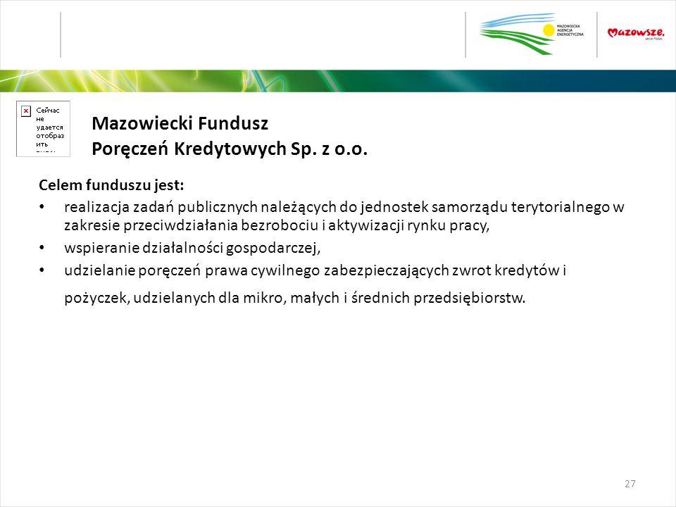 Mazowiecki Fundusz Poręczeń Kredytowych Sp. z o.o.