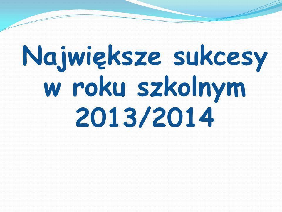 Największe sukcesy w roku szkolnym 2013/2014