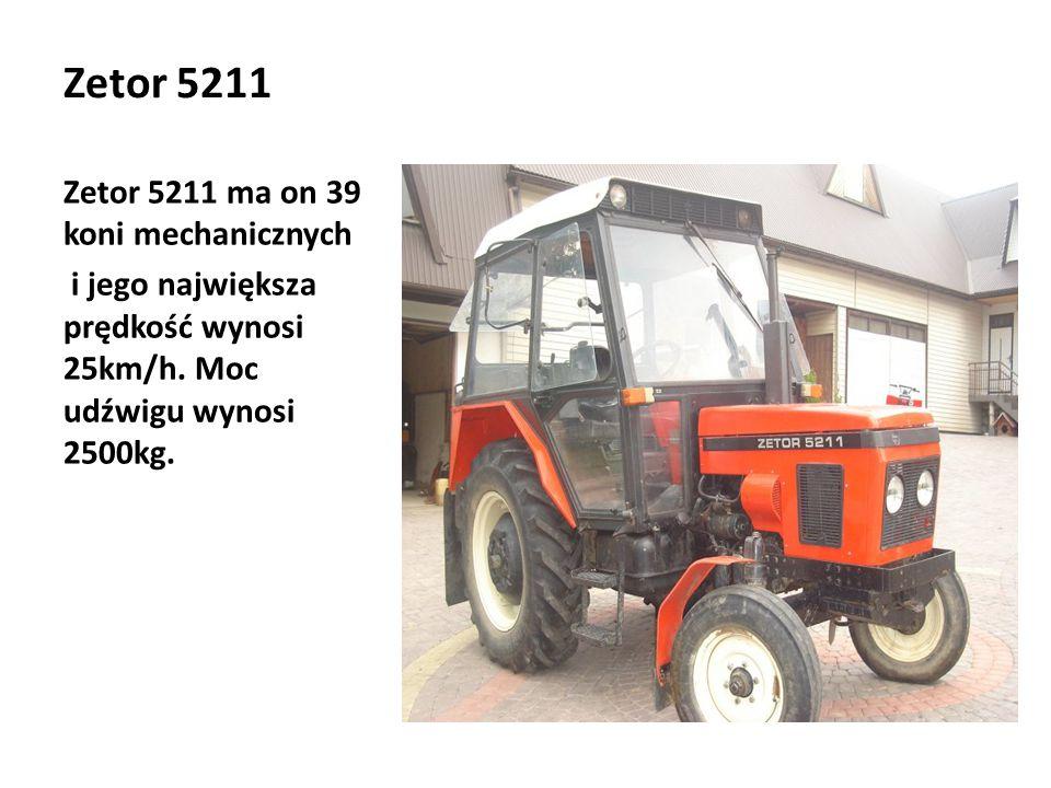 Zetor 5211 Zetor 5211 ma on 39 koni mechanicznych