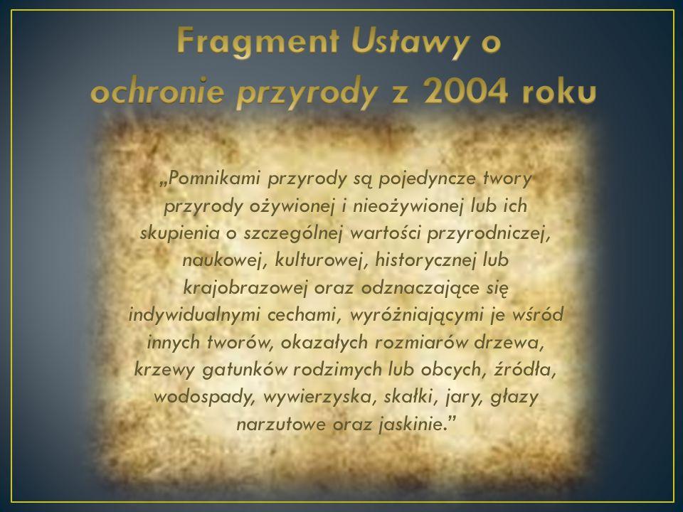 ochronie przyrody z 2004 roku
