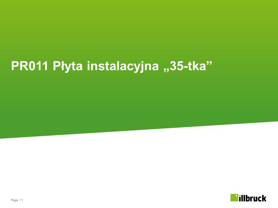 """PR011 Płyta instalacyjna """"35-tka"""