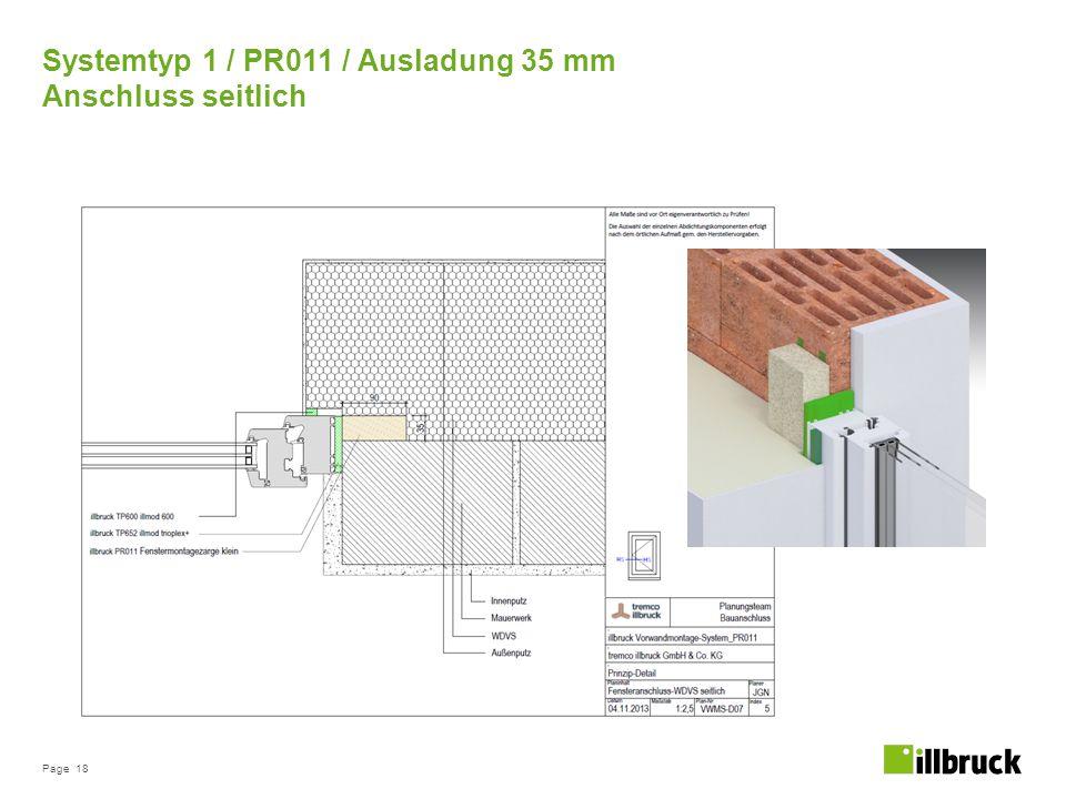 Systemtyp 1 / PR011 / Ausladung 35 mm