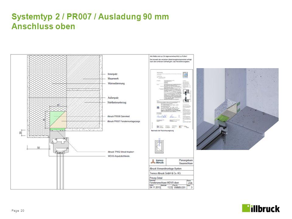 Systemtyp 2 / PR007 / Ausladung 90 mm