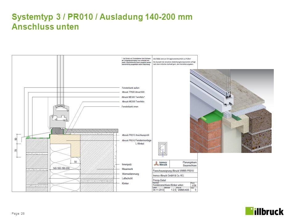 Systemtyp 3 / PR010 / Ausladung 140-200 mm