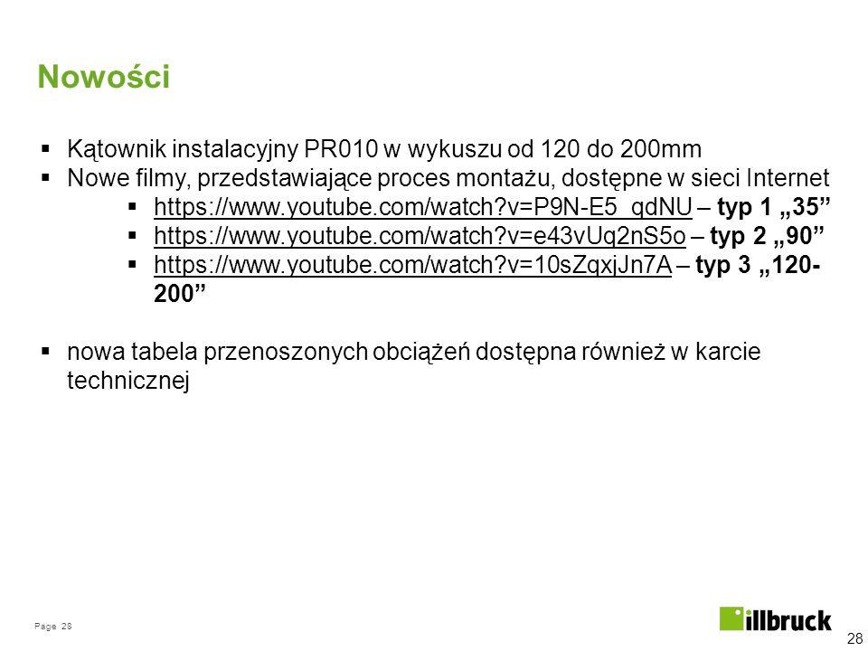 Nowości Kątownik instalacyjny PR010 w wykuszu od 120 do 200mm