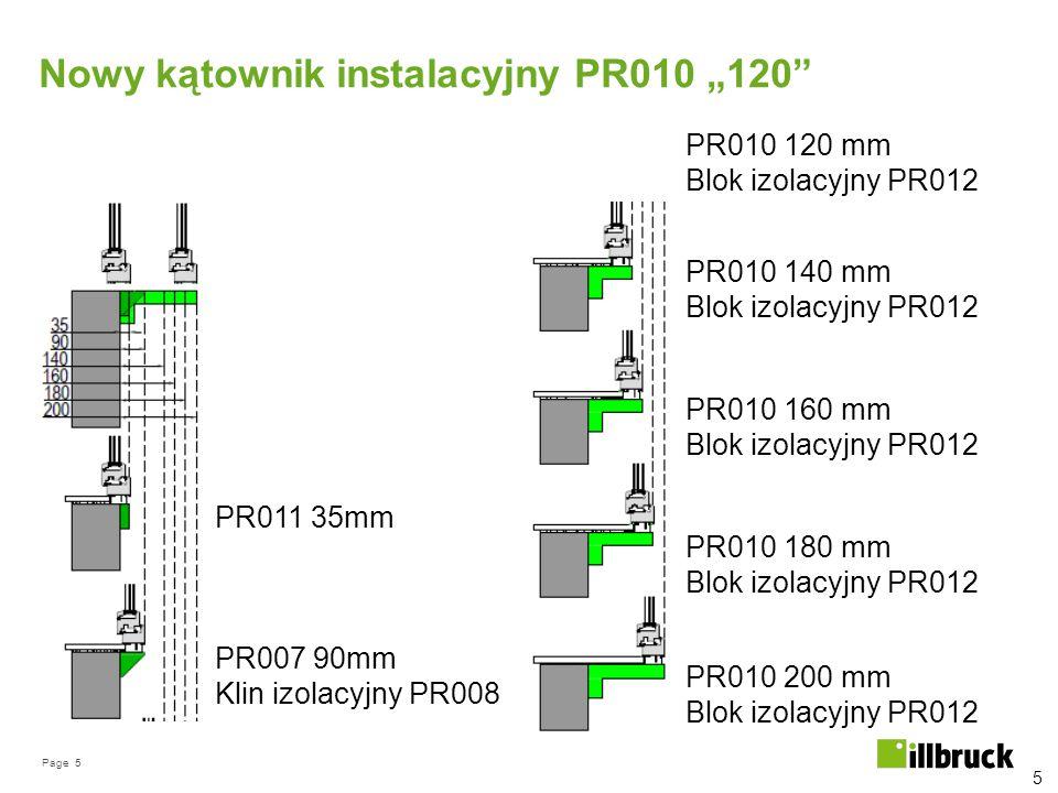 """Nowy kątownik instalacyjny PR010 """"120"""