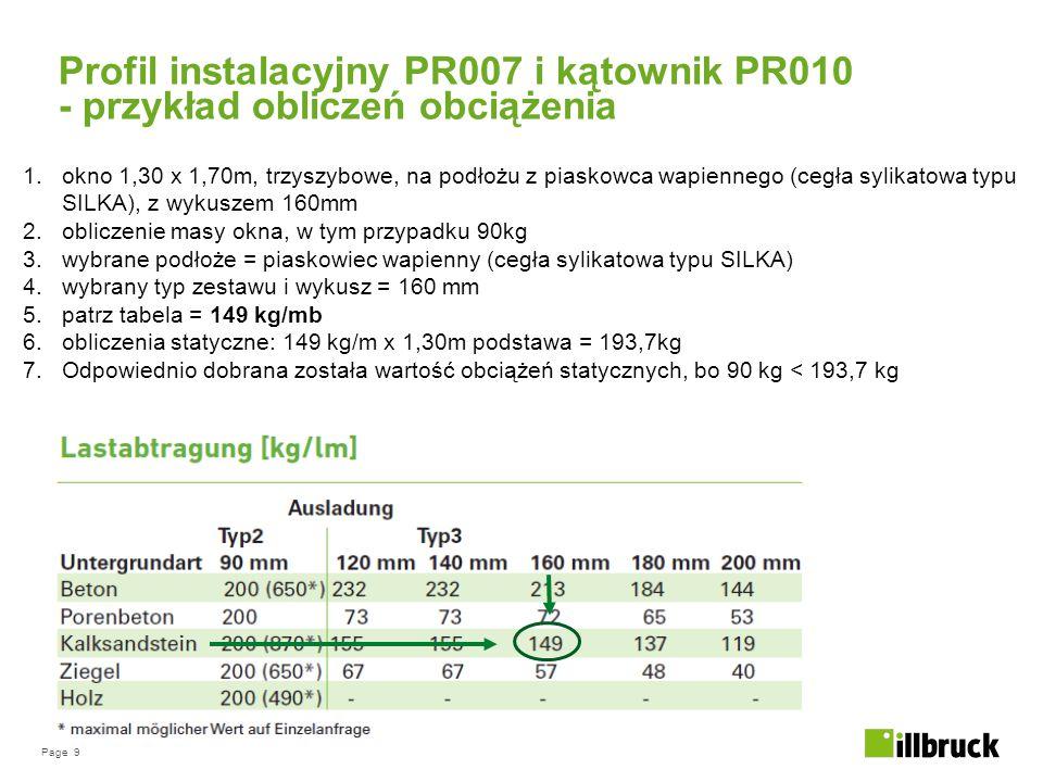 Profil instalacyjny PR007 i kątownik PR010