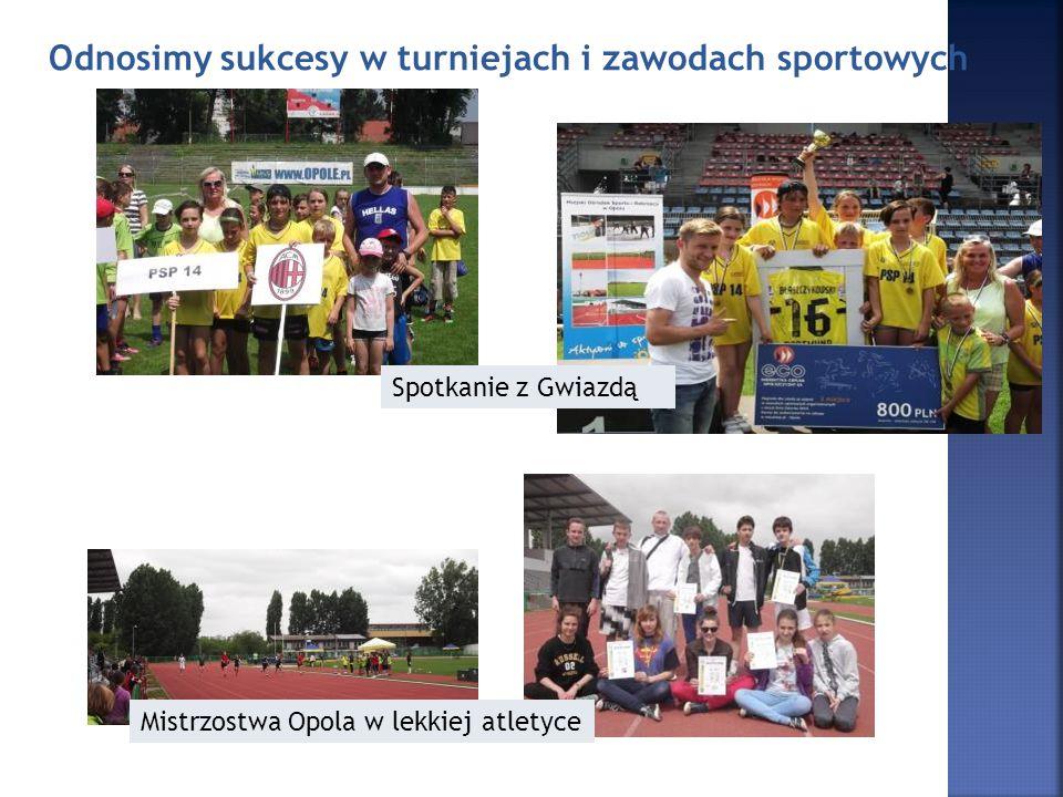 Odnosimy sukcesy w turniejach i zawodach sportowych