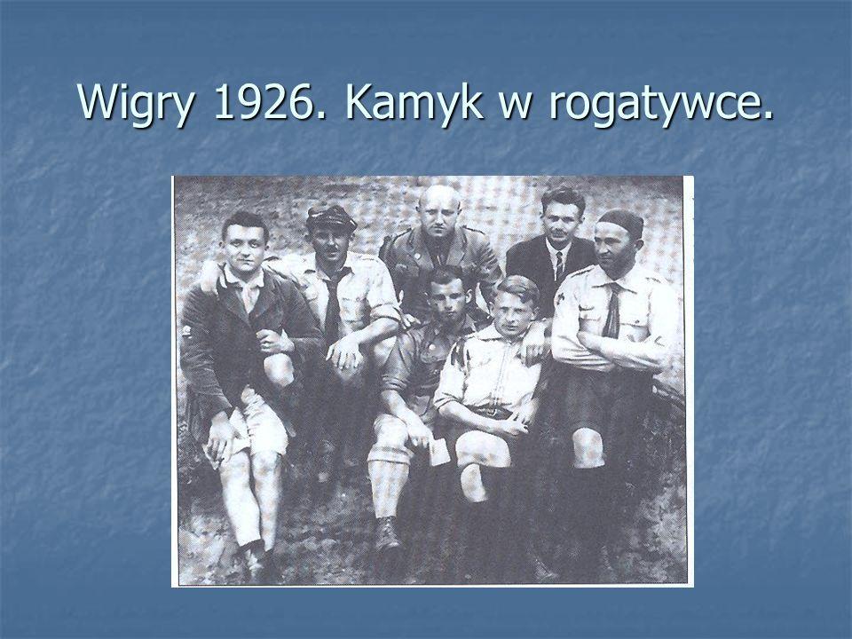 Wigry 1926. Kamyk w rogatywce.