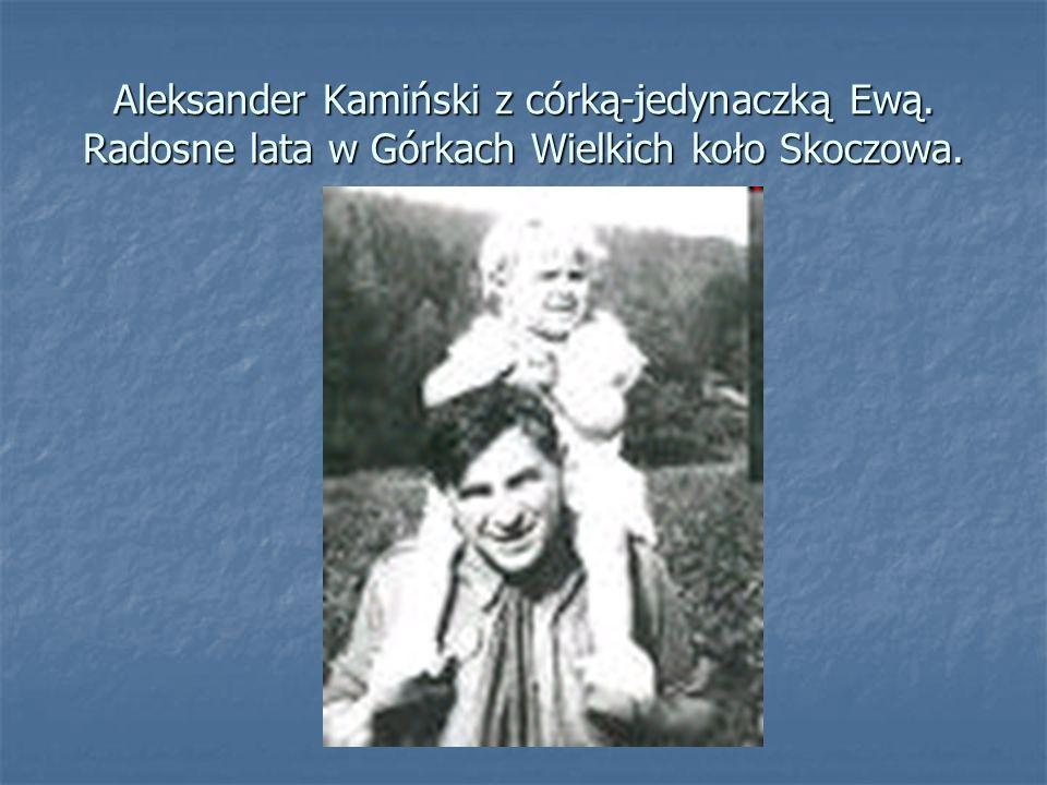 Aleksander Kamiński z córką-jedynaczką Ewą
