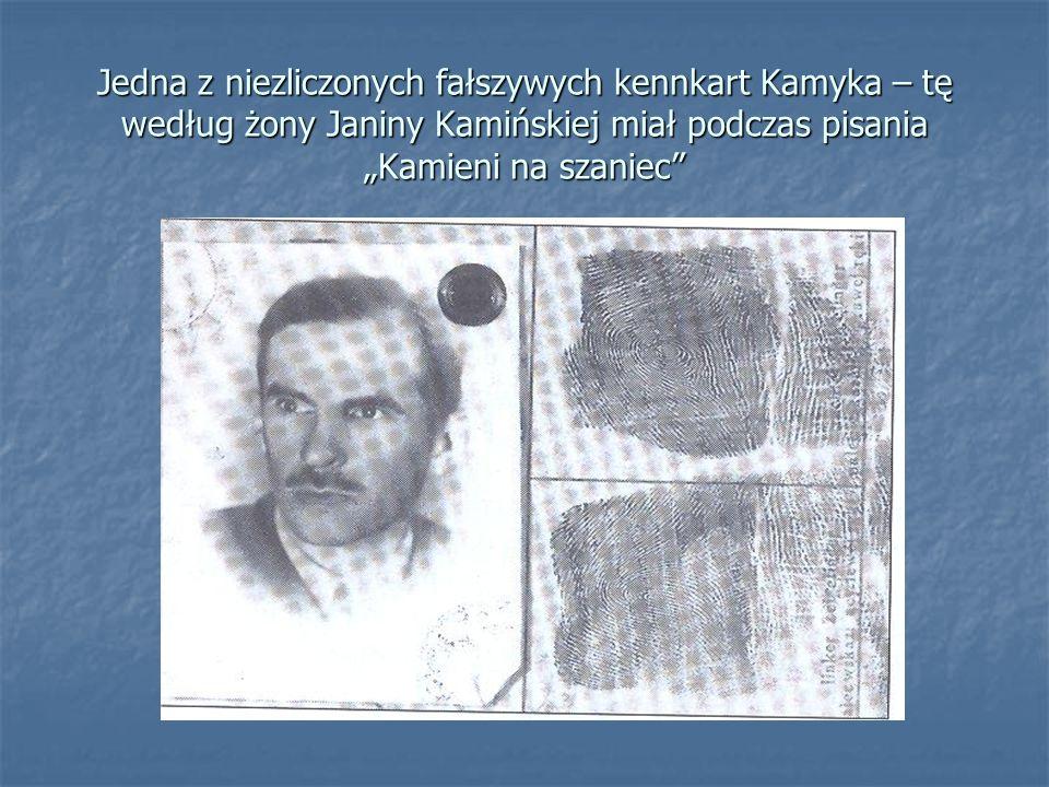 """Jedna z niezliczonych fałszywych kennkart Kamyka – tę według żony Janiny Kamińskiej miał podczas pisania """"Kamieni na szaniec"""