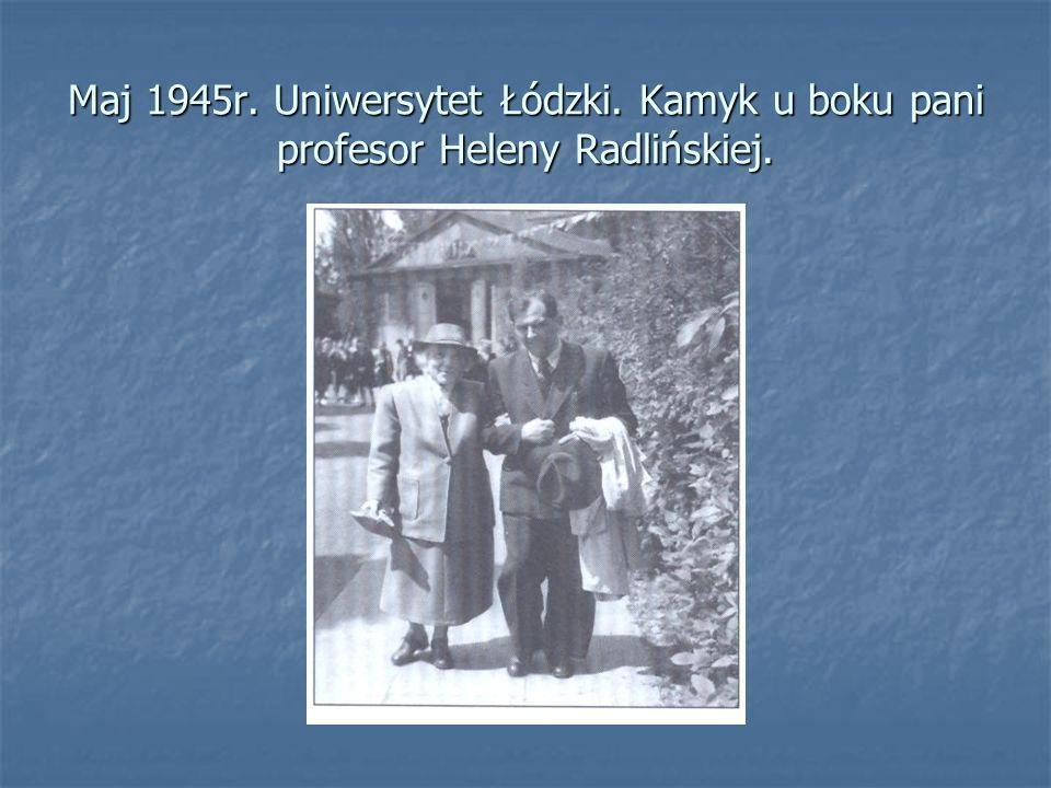 Maj 1945r. Uniwersytet Łódzki