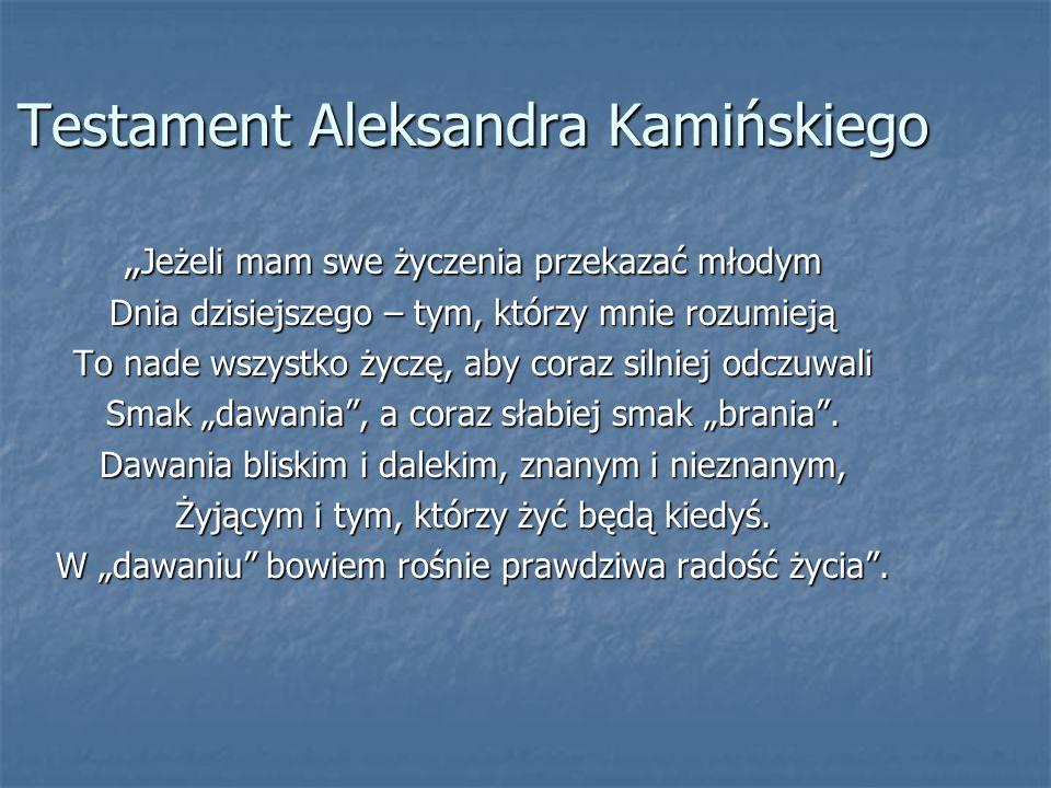 Testament Aleksandra Kamińskiego