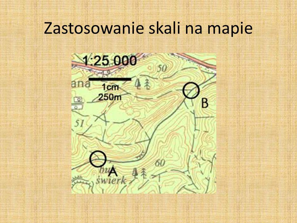 Zastosowanie skali na mapie