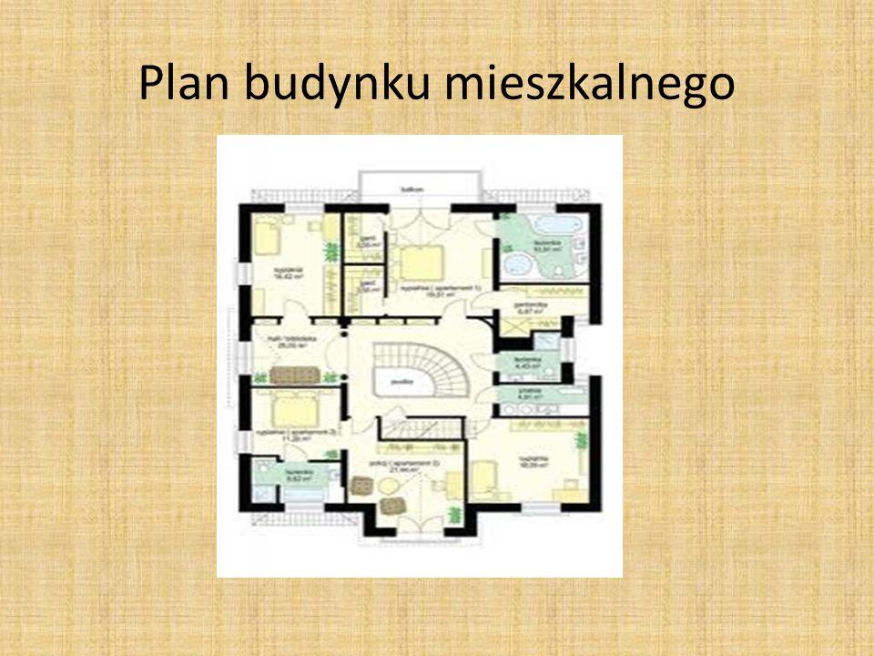 Plan budynku mieszkalnego