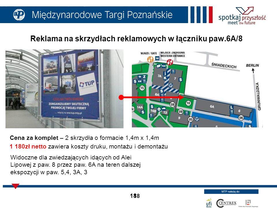 Reklama na skrzydłach reklamowych w łączniku paw.6A/8