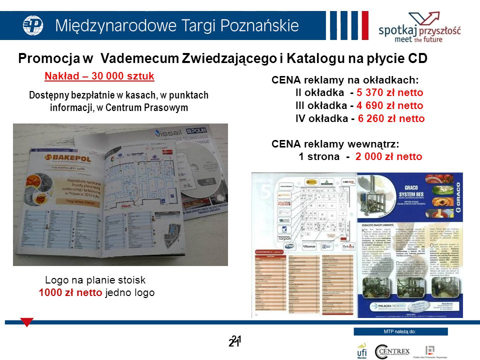 Promocja w Vademecum Zwiedzającego i Katalogu na płycie CD